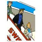 Tim und Struppi Klarsichthülle A4 Swissair Gangway