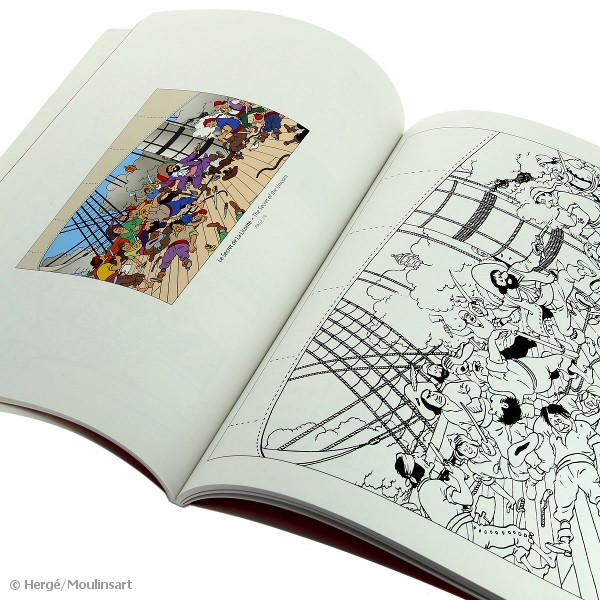 Galerie Mühlenhof, Essen | Tim und Struppi Tintin Malbuch blau ...