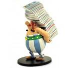 Asterix Obelix mit Bücherstapel