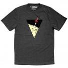 Tim und Struppi T-Shirt Rakete dunkelgrau Größe S