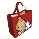 Tim und Struppi Kunststofftasche 45 x 38 cm rot