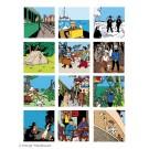 Tim und Struppi 12 Postkarten mit Umschlag