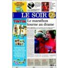 Tim und Struppi Le Soir Zeitung mit Stickerheft (FR)