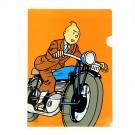 Tim und Struppi Klarsichthülle A4 Tim auf Motorrad
