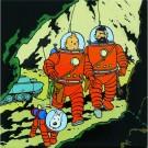 Tim und Struppi Magnet Tim, Struppi & Haddock  Mond