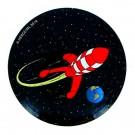 Tim und Struppi Magnet fliegende Mondrakete