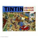 Tim und Struppi Tintin Malbuch blau