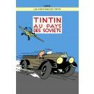 Tim und Struppi Poster Tintin au pays des Soviets blau