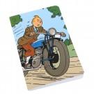 Tim und Struppi Notizbuch Tim auf dem Motorrad groß