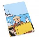Tim und Struppi Notizbuch Tim auf einem Boot groß