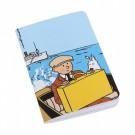Tim und Struppi Notizbuch Tim auf einem Boot klein