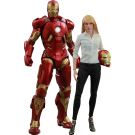 Iron Man 3 Pepper Potts And Mark IX Hot Toys