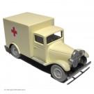 Tim und Struppi 2te Serie Atlas Auto 19 Krankenwagen beige
