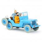 Tim und Struppi Auto 4 Der blaue Jeep 1:24