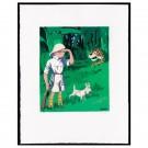 Tim und Struppi 77 Ex. Lithographie Tintin Moulinsart Congo