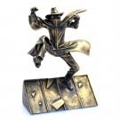 Blake & Mortimer Das gelbe M Bronze Figur 14 cm