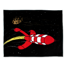Tim und Struppi Decke Rakete 130 x 160 cm