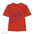 Tim und Struppi T-Shirt rot, blaue Linien Größe 8