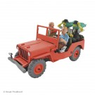 Tim und Struppi 2te Serie Atlas Auto 1 Willys Jeep rot