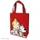 Tim und Struppi Kunststofftasche 26 x 33,5 cm rot