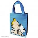 Tim und Struppi Kunststofftasche 26 x 33,5 cm blau