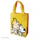 Tim und Struppi Kunststofftasche 26 x 33,5 cm gelb