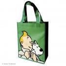 Tim und Struppi Kunststofftasche 26 x 33,5 cm grün