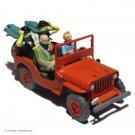 Tim und Struppi Atlas Auto 44 Willys Jeep rot