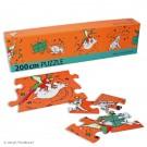 Tim und Struppi Fries-Puzzle Struppi & Papagei 200 cm