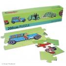 Tim und Struppi Fries-Puzzle Autos 200 cm