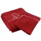 Tim und Struppi Handtuch & Waschlappen rot