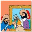 Tim und Struppi Einhorn Motiv 2 Stoffbild 37 x 37 cm