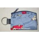 Tim und Struppi Schlüsselanhänger mit Geldbörse blau