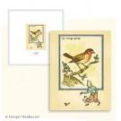 Tim und Struppi Lithographie Postkarte Der Vogel