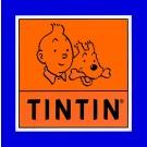 Tim und Struppi Aufkleber Logo 16 x 16 cm