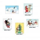 Tim und Struppi Weihnachtskartenset III 10 x 15 cm