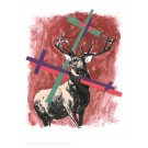 Roman Uranjek Stag red with crosses Druck
