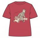Tim und Struppi T-Shirt Heimkehr rot Größe M