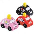Barbapapa Barbapouet Spielzeugauto aus Holz rosa