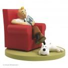 Tim und Struppi PVC-Würfel 10 Im Sessel