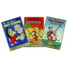 3 von Carl Barks signierte Cover-Plakate als Set